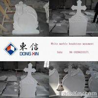 White marble memorial headstone tombstone