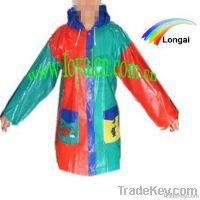 waterproof children pvc raincoat