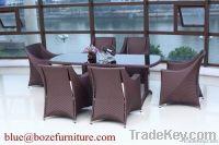 (BZ-D044) Garden Furnitue Wicker Dining Set