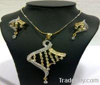 zircon diamond studded indian jewelry pendant