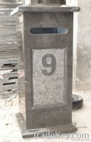 Blue stone letterbox / mailbox poster