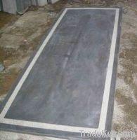 Blue limestone countertop