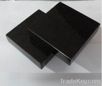 Shanxi black granite / black granite tile slab