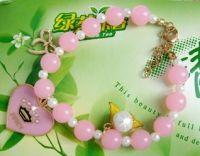 heart pendant pearl classic bracelet