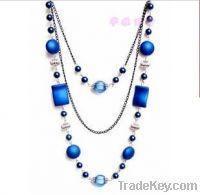 blue jade banquet custome necklace