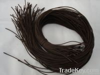 brown waxed shoe laces