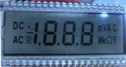 LCD for multimeter
