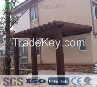 wpc wood plastic composite gazebo for ourdoor or garden furniture