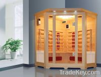 luxurious sauna room for many people
