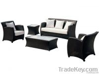black rattan sofa , rattan furniture
