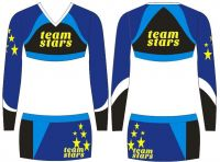 2013 customized design trendy cheerleading uniform