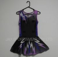 custom design sublimation printing  netball dress , netball bodysuit