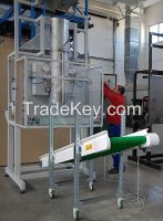 Automatic packing machine, producing and filling sacks 15-25 kg.
