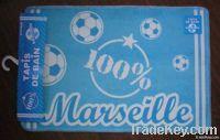 Football printing door rug