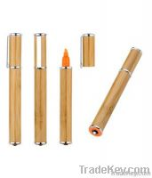 Promotional Bamboo Led/Laser Highlighter Ball Pen