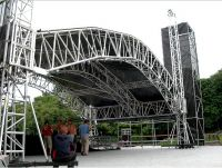 Portable truss with roof system