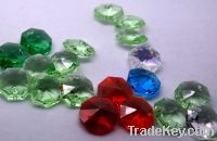 faceted octagonal crystal beads