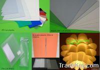 Plastic cut sheets (PP, Apet, PVC)