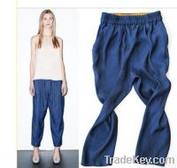 Turkey cobalt blue loose pants hanging file lanterns turnip pants 9