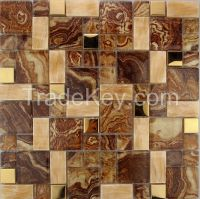 flower glass mosaic tile jsm-834