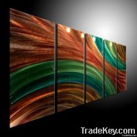 METAL PAINTING WALL ORIGINAL ABSTRACT ART