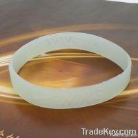Luminous colour changeful enviroment silicon bracelet
