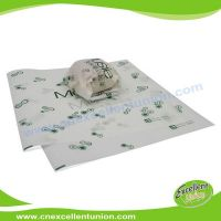 EX-WP-008 Greaseproof Food Packaging Paper for Wrapping Hamburgers, hot dog, bread