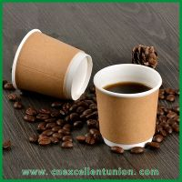 Double Wall Double Color Kraft Paper Cup paper coffee cup