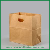 Die Cut Handle Take Away Paper Bags Shopping Bag Customized Delivery Paper Bag