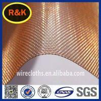 Shielded signals Copper Wire Mesh/ brass decorative wire mesh