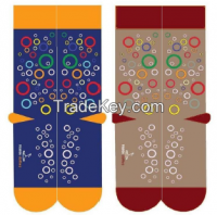 large dotted socks