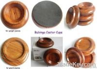 wooden castor cups for