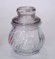 Glass storage food jar for home use