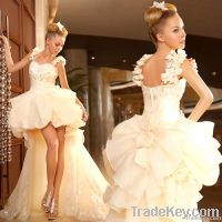 Large Tail Wedding Dresses