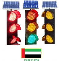 solar traffic signal three color
