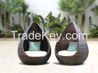 Poly rattan chair for pool garden