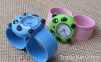 Children silicone slap watch