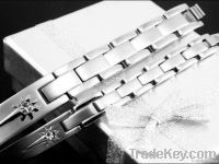 Negative Ion Stainless Steel Bracelet
