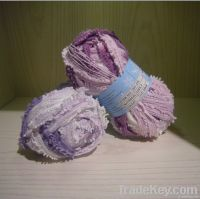 polyester fancy mesh knitting yarn with pigtail