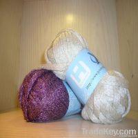 new style shining fancy mesh yarn with lurex
