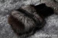 Luxurious silver fox fur + rabbit fur women's coat