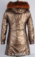 NEW!Ladies nick coats with fox fur collar and rabbit fur lining