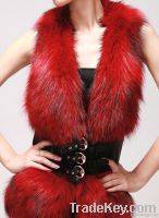 Raccoon fur / sheep skin vest