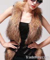 Raccoon fur / sheep skin vest