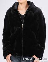 Men full pelt mink fur jacket, imported mink