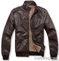Men leather jacket, bomber jacket