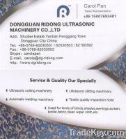 Full automatic ultrasonic microfiber cloth slitting machine