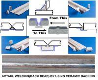 Ceramic back up tape for welding