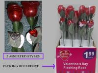 Holiday Gift  Flashing Rose