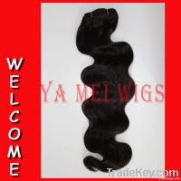 16 inch Body wave 2# high quality 100% human remy hair machine made we